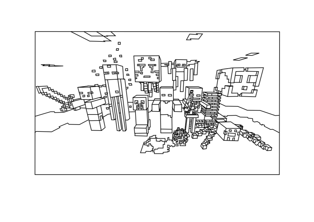 easter minecraft coloring pages - photo #8